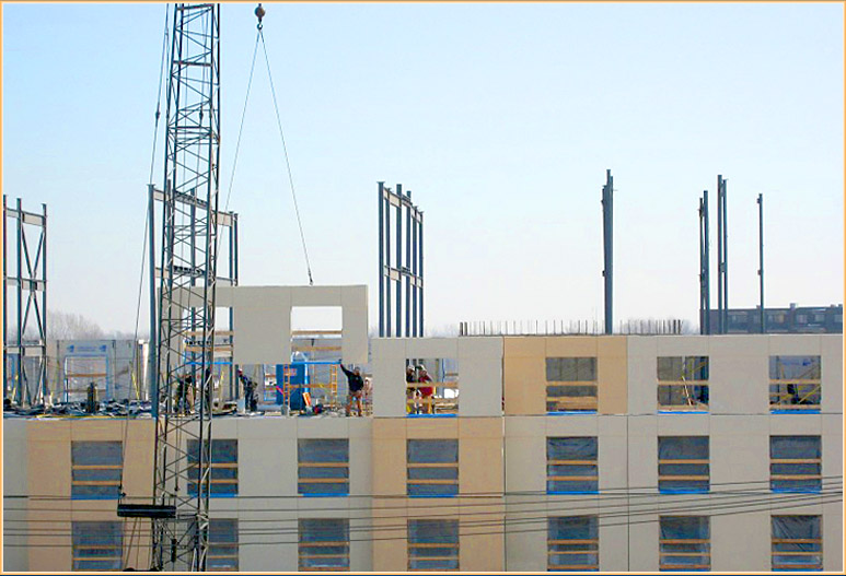 Installation of 4th floor structural walls (3)