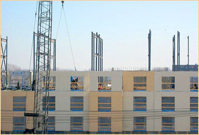 Installation of 4th floor structural walls (4)